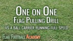 Flag Pulling Drill – Cutting Off Offense Running Full Speed Ahead